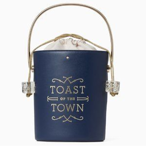 kate spade steal spotlight champagne bucket bag nw